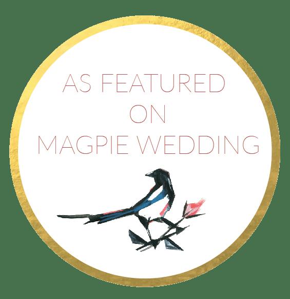 Magpie Wedding Blog featured badge