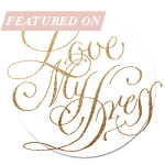Featured on Badge Love my Dress wedding blog