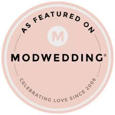 Featured on badge for Mod wedding blog