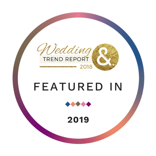 featured on badge for the 2019 wedding trends report